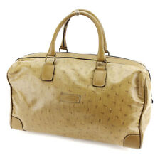 Lancel Boston bag Beige Brown Woman Authentic Used P679
