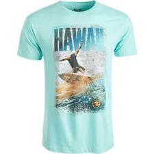 Univibe Mens Hawaii Cotton Short Sleeve Crewneck Graphic T-Shirt Top BHFO 8261