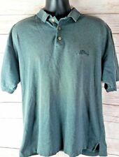 Tommy Bahama Men's Medium Cotton Polo Shirt Gray Marlin Logo Button Top