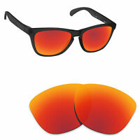 Hawkry Polarized Replacement Lenses for-Oakley Frogskins Orange Red Mirror