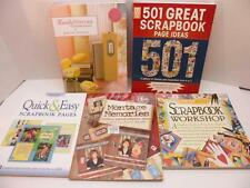 Scrapbooking LOT 5 Books Hobby Crafting Scrap Books