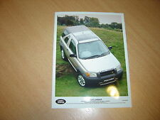 PHOTO DE PRESSE ( PRESS PHOTO ) Land Rover Freelander XE Harback de 1997 R0033