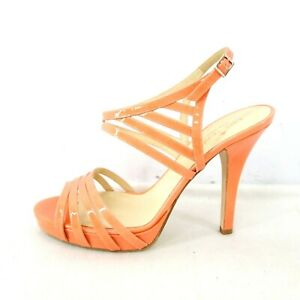 Kate spade new york Chaussures Femme Escarpins Sandales Cuir Verni Orange Neuf