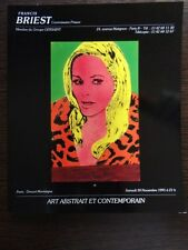 Catalogue Vente Briest Tableau peinture Tableau Art Moderne Henri Michaux 1991