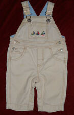 Gymboree Longall overalls romper Sail Boats Baby Boy 3 6 months EUC Cotton