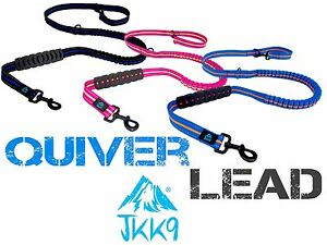 JKK9® Quiver Dog Lead Anti Shock Bungee Strong Dogs Leash 1 Lead, 7 Functions