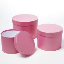 Oasis Symphony Hat Boxes - Strong Pink, Set of 3