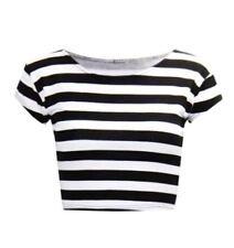 Maglie e camicie da donna aderente fantasia righe taglia S