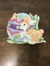 Fitz and Floyd Essentials Painting Easter Eggs Canape Plate
