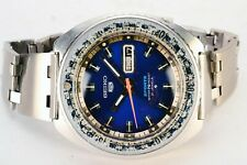 Rare Vintage Seiko Rally 6119-7173 Sport 5 Day Date Automatic S.Steel Watch