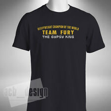Team Fury Boxing T Shirt The Gypsy King Heavyweight Champion of the World