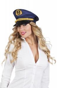 Kapitänsmütze Kapitän Mariene Matrose Hut Mütze Kappe Kostüm Uniform Käpitänshut