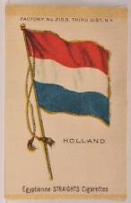 Early 1900s Holland Flag Silk Tobacco Cigar Box Premium Egyptienne Cigarettes