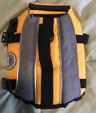 Vivaglory Dog Life Jacket Adjustable Lifesaver XS Yellow NEW