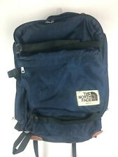 Vintage The North Face Large Blue Canvas Hiking Backpack Brown Label Made In USA
