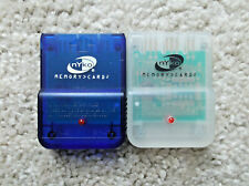 Nyko Memory Cards 1MB for PS1 x2