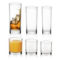 6 x Bormioli Rocco Cortina Dinner Whiskey Cocktail Tumbler Drinking Glasses Set