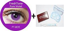Contact Lenses Colored  FRESHTONE® Pure Violet  + Case + AVIZOR solution 10 ML
