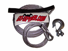 """Atv 3/16"""" x 50' Gal Steel Winch Cable, Hook & Tether"""