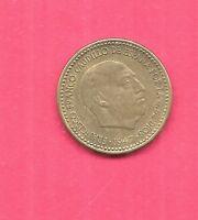 SPAIN SPANISH KM775 1947(1954)) OLD VINTAGE XF-SUPER FINE-NICE  PESETA COIN