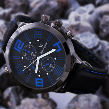 Unique Oversized Dial Design Top Luxury Sport Men Watch Boy Times Bangle JP4