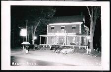 CHAMPLAIN QUEBEC Manoir Antic Restaurant & Rooms Vtg RPPC Postcard Night View