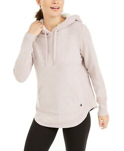 Ideology French Terry Hoodie Sweatshirt - Sherpa-Lined Hood - 2XL, Pink #8048