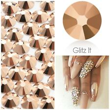 Swarovski x 50 MIXED SIZE Rose Gold Crystals Rhinestones GLUE ON Nail Costume