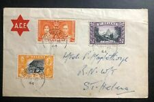 1944 St Helena ACF Official Cover Locally Used  Coronation Stamp