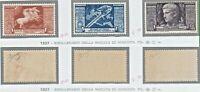 ITALY REGNO 1937 BIMILLENARIO DELLA NASCITA DI AUGUSTO Aerea 3v MNH** FIRMATI