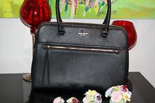 "Statement Luxury New Kate Spade Black Handbag Jackson street kiernan Large 16"""