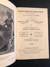 [18396-B96] Catalogue Publicité - Lampes pour Mines - Fabrique Liégeoise