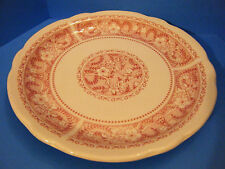 """9"""" Sterling China Plate from E. Liverpool OH 0-2 Flowered Red Pattern"""