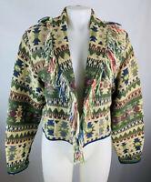 VTG Large Women's Blanket Coat Blazer Fringe Western Aztec Cowgirl Country