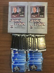 LOT OF 102 STAR TREK (2) 1991 NEXT GENERATION SERIES I FACTORY SEALED BOXES +++