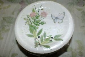 LENOX BUTTERFLY MEADOW BLUE PINK DINNER PAPER LUNCH PLATES SETS NEW