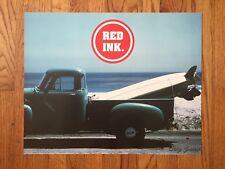 Vintage California Surf Surfing Surfboard Photo Chevrolet Truck Malibu Poster