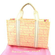 9b181927a Samantha Vega Tote bag Pink White Woman Authentic Used Y7136