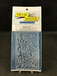 Detail Master DM-9111 Thin Flame Template New in Package