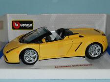 Bburago 1/18 Lamborghini Gallardo Spyder. Metallic Yellow MiB