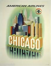Chicago  Travel Vintage Poster or Canvas Giclee Print 22x28