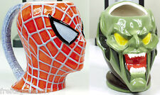 MARVEL SPIDERMAN GREEN GOBLIN  2 ceramic 3D mugs Neca