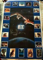 Henry Thomas autographed signed E.T. 23x35 movie poster inscribed Elliott photo