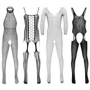 Mens Full Body Pantyhose Lingerie Body Stocking Fishnet Sheer Jumpsuit Underwear