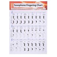 Saxophone Practice Chart Coated Paper Saxophone Finge Chart Saxophone Finge D4U1