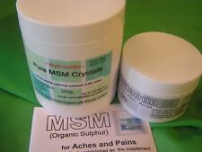 Quality MSM crystals plus Vit C - relief for everyday joint aches & pains