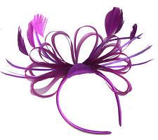 Net Hoops Feather Headband Fascinator Wedding Ascot Hairband Alice Band  Races 685c07d0153