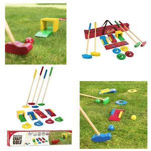 Toyrific Wooden Crazy Golf Set Outdoor Minigolf Family Fun Garden Ball Games
