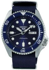 Seiko 5 Sports Blue Dial Canvas Strap Automatic Men's Watch SRPD51K2 RRP £250
