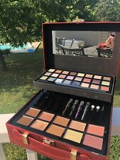 Red Ulta Beauty Makeup Box With Eyeshadows, Eyeliner, And Contours